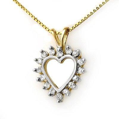ACA Certified 0.25ctw Diamond Pendant 14K Yellow Gold