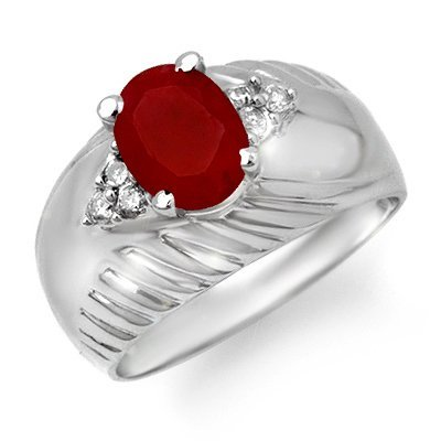 Overstock 1.69ctw Diamond & Ruby Ladies Ring White Gold