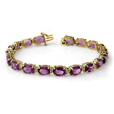Overstock 22.6ctw Amethyst Tennis Bracelet Yellow Gold