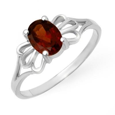 Overstock Certified 1.0ct Garnet Ladies Ring White Gold