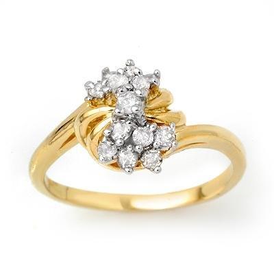 Certified 0.25ctw Diamond Ladies Ring Yellow Gold