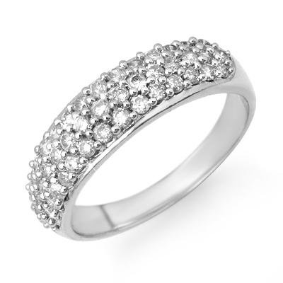 Certified 1.00ctw Diamond Ladies Band White Gold 14K