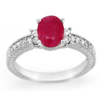 Overstock 2.31ctw Ruby & Diamond Ring 14K White Gold