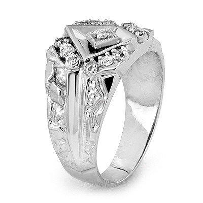 Certified Quality 0.25ctw Diamond Men's Ring White Gold