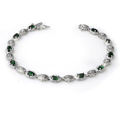 Overstock 2.62ctw Emerald & Diamond Bracelet 10kt Gold