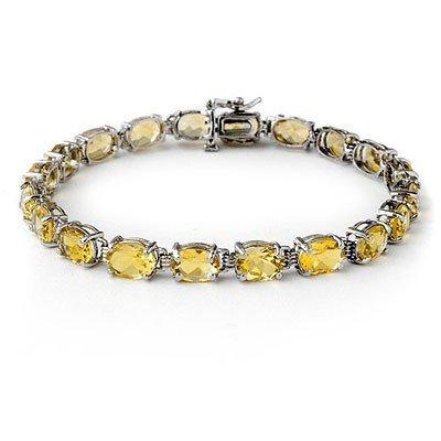 Overstock 16.40ctw Citrine Ladies Tennis Bracelet Gold