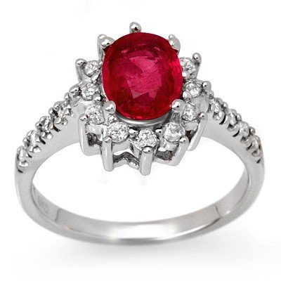 Certified 2.45ctw Pink Sapphire & Diamond Ring 14K Gold