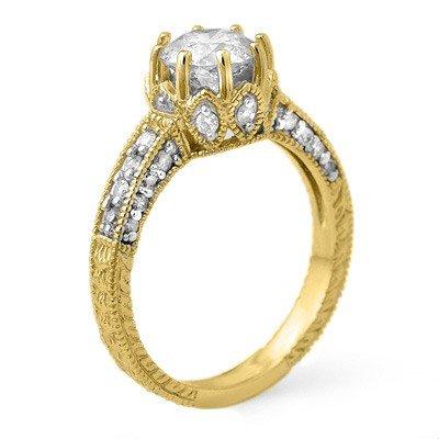 Famous 1.75ctw Diamond Engagement Ring 14K Yellow Gold