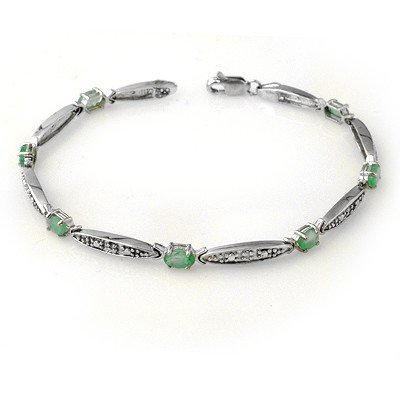ACA Certified 2.07ctw Emerald & Diamond Bracelet Gold