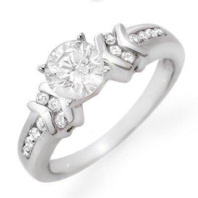 Famous Engagement Ring 1.10ctw Diamond 14K White Gold