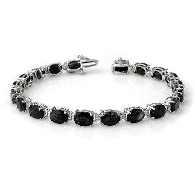 Overstock 28.50ctw Sapphire Tennis Bracelet White Gold