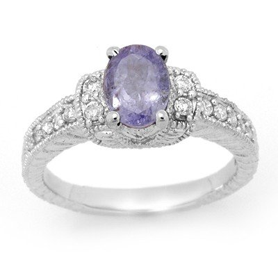 ACA Certified 2.0ctw Tanzanite & Diamond Ring 14K Gold