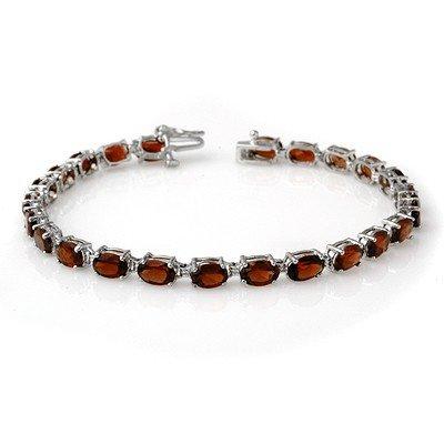 Overstock 15.50ctw Garnet Tennis Bracelet White Gold