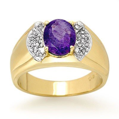 Overstock 2.65ctw Tanzanite & Diamond Men's Ring Gold