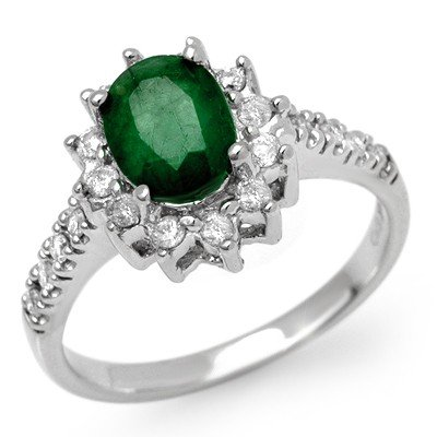 ACA Certified 1.95ctw Emerald & Diamond Ring 14K Gold