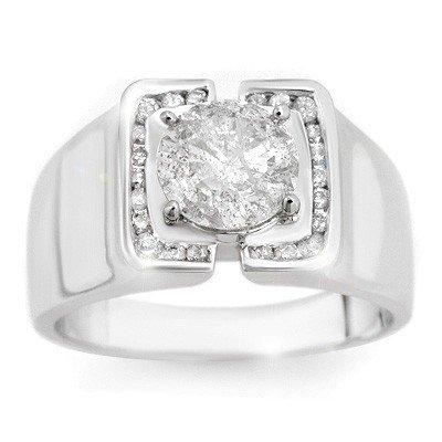 Certified Quality 2.08ctw Diamond Men's Ring White Gold