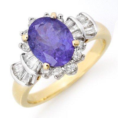 Overstock 2.90ctw Tanzanite & Diamond Ring Yellow Gold