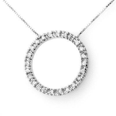 Natural 0.33 ctw Diamond Necklace 14K White Gold