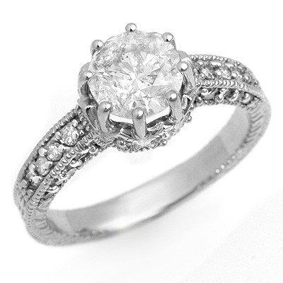 Natural 1.75 ctw Diamond Ring 14K White Gold