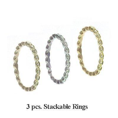 GENUINE 0.36 ctw DIAMOND RING 14K W-Y-R GOLD