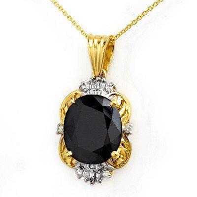 Genuine 8.59 ctw Sapphire & Diamond Pendant 14K Gold