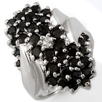 Natural 2.0 ctw Diamond Ring 10K White Gold