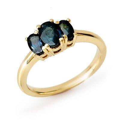 Genuine 1.0 ctw Sapphire Ring 10K Yellow Gold