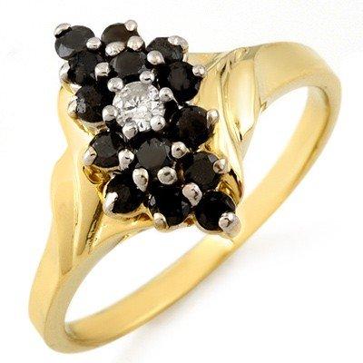 Natural 0.65 ctw Diamond Ring 10K Yellow Gold