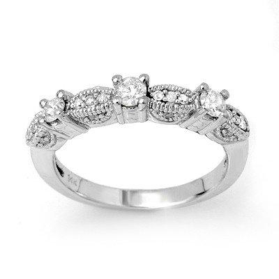 Natural 0.61 ctw Diamond Ring 14K White Gold