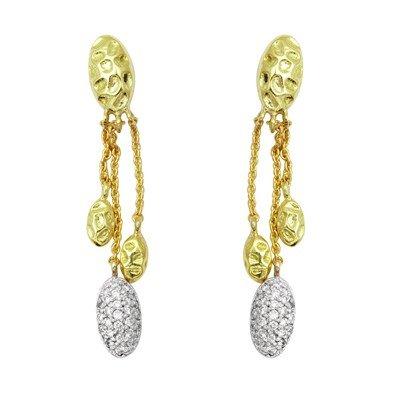 GENUINE 0.25 ctw DIAMOND and EARRINGS 14K YELLOW GOLD