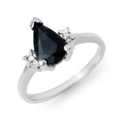 Genuine 1.75 ctw Sapphire & Diamond Ring 10K White Gold