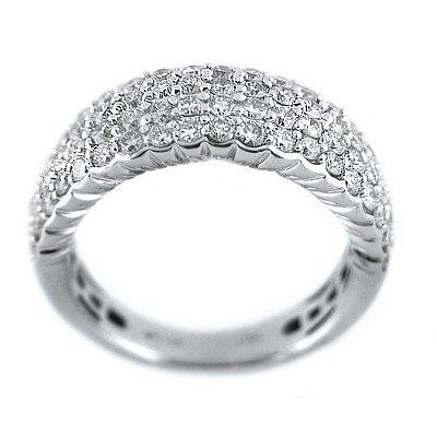 GENUINE 1.4 ctw DIAMOND RING 14K WHITE GOLD