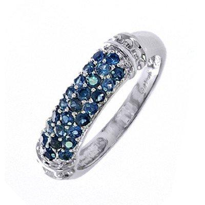 GENUINE 0.75 ctw BLUE SAPPHIRE RING 14K WHITE GOLD