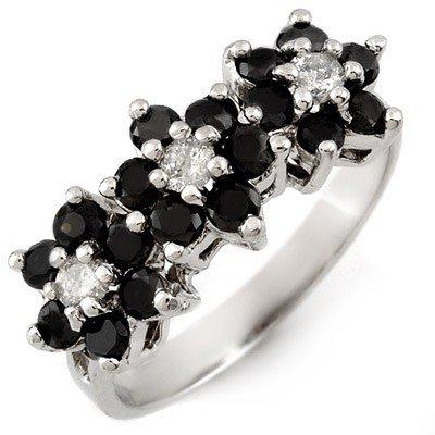Natural 1.25 ctw Diamond Ring 10K White Gold