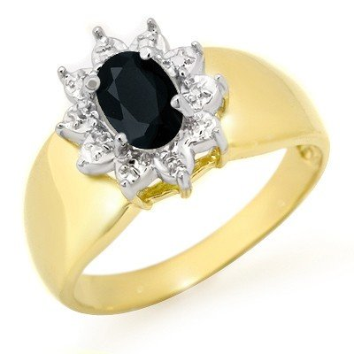 Genuine 0.65 ctw Sapphire Ring 10K Yellow Gold