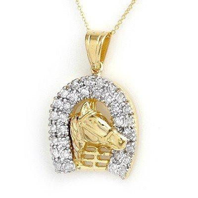 Natural 1.25 ctw Diamond Pendant 14K Yellow Gold