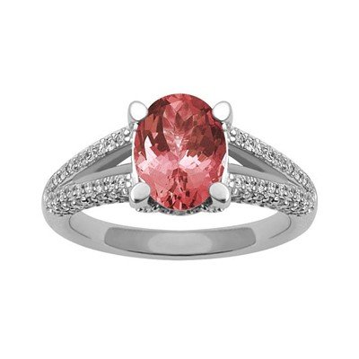 GENUINE 2.05 ctw DIAMOND and RUBY RING 14K WHITE GOLD
