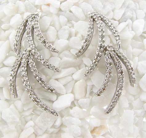 Natural 1.75 ctw Diamond Earrings 14K White Gold