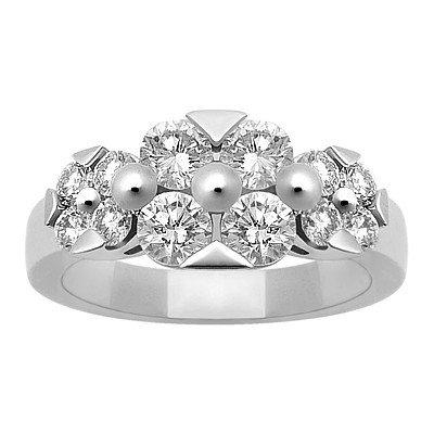 GENUINE 1.6 ctw DIAMOND RING 14K WHITE GOLD