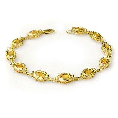 Genuine 5.05 ctw Citrine Bracelet 10K Yellow Gold