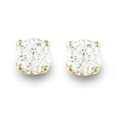 Natural 0.50 ctw Diamond Stud Earrings 14K Yellow Gold