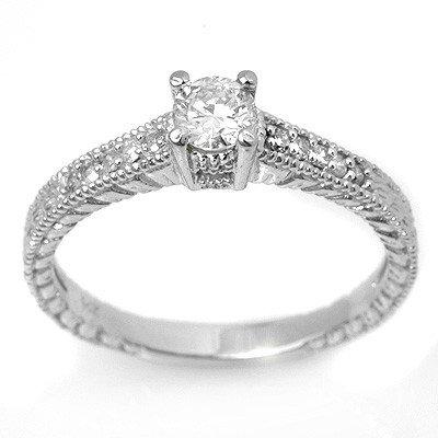 Natural 1.05 ctw Diamond Ring 14K White Gold