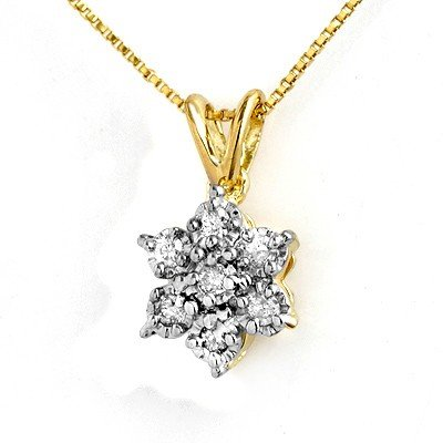 Natural 0.25 ctw Diamond Pendant 10K Yellow Gold