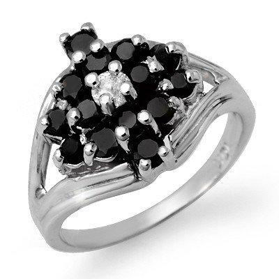 Natural 1.01 ctw White & Black Diamond Ring 10K Gold