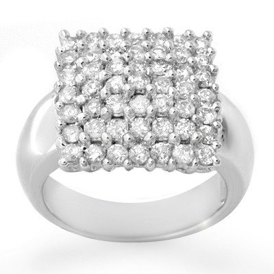 Natural 2.0 ctw Diamond Ring 14K White Gold