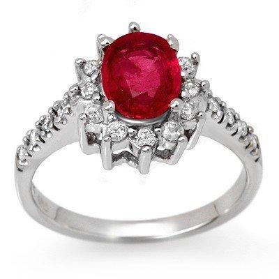 Genuine 2.45 ctw Pink Sapphire & Diamond Ring 14K Gold