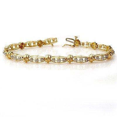 Natural 0.65 ctw Diamond Bracelet 10K Yellow Gold