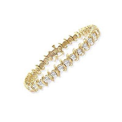 Natural 2.0 ctw Diamond Bracelet 10K Yellow Gold