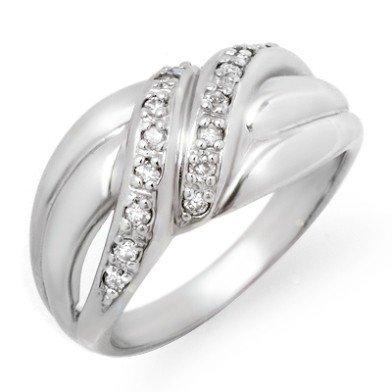 Natural 39817 ctw Diamond Ring 10K White Gold