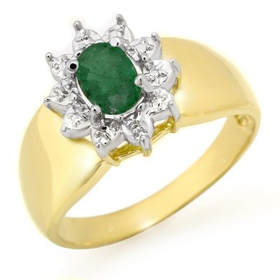 Genuine 0.50 ctw Emerald Ring 10K Yellow Gold * MSRP $5